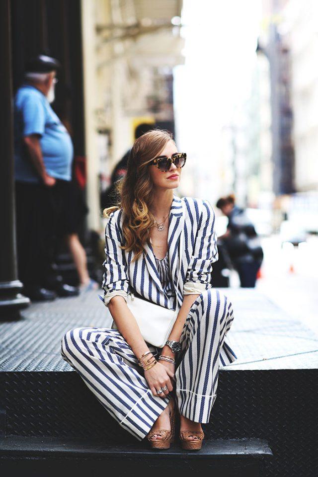 Striped Jumpsuit via