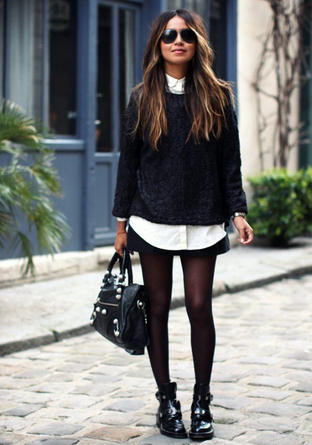Sweater Combo and Skirt via