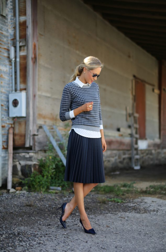 Tartan Sweater and Polka Dot Shirt via
