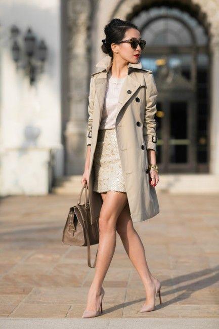 Trench Coat for Office Ladies via