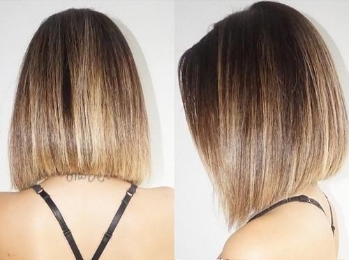 Trendy ombre lob for medium hair 2017