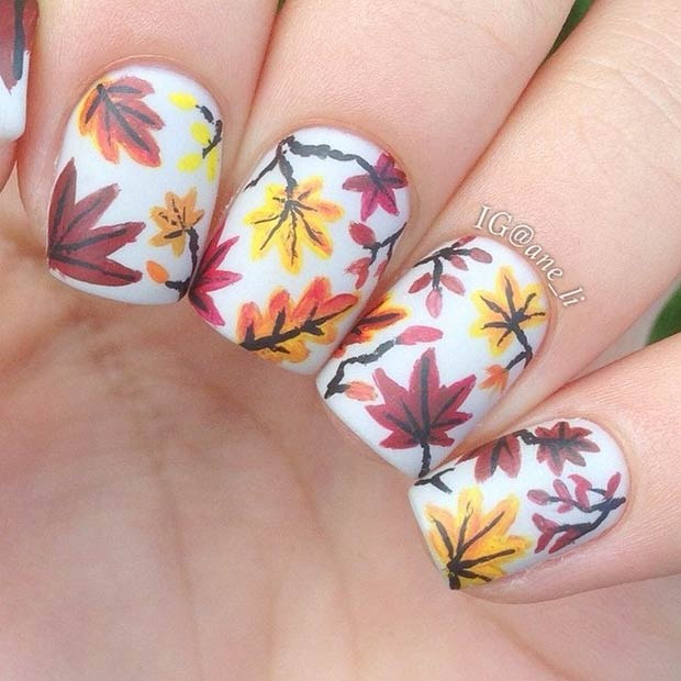 White Nails with Maples via