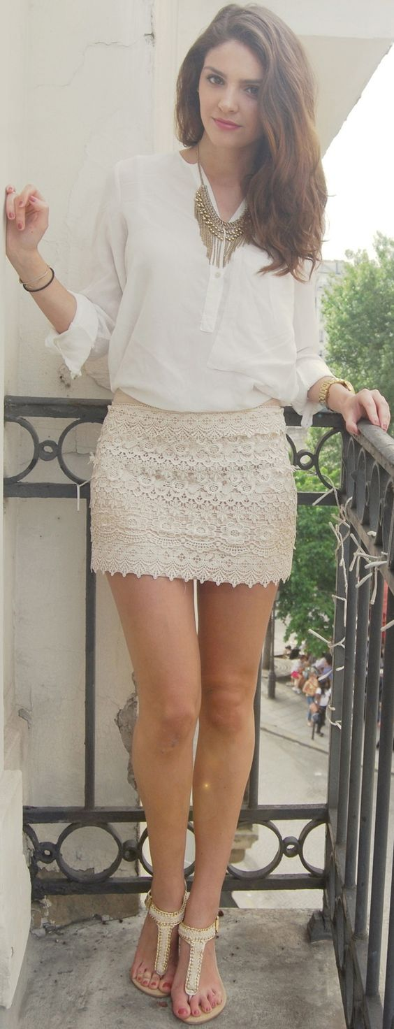 White Skirt via