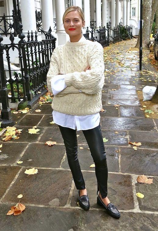 White Sweater and White Shirt via