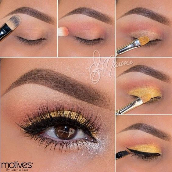 Yellow Eye Makeup via