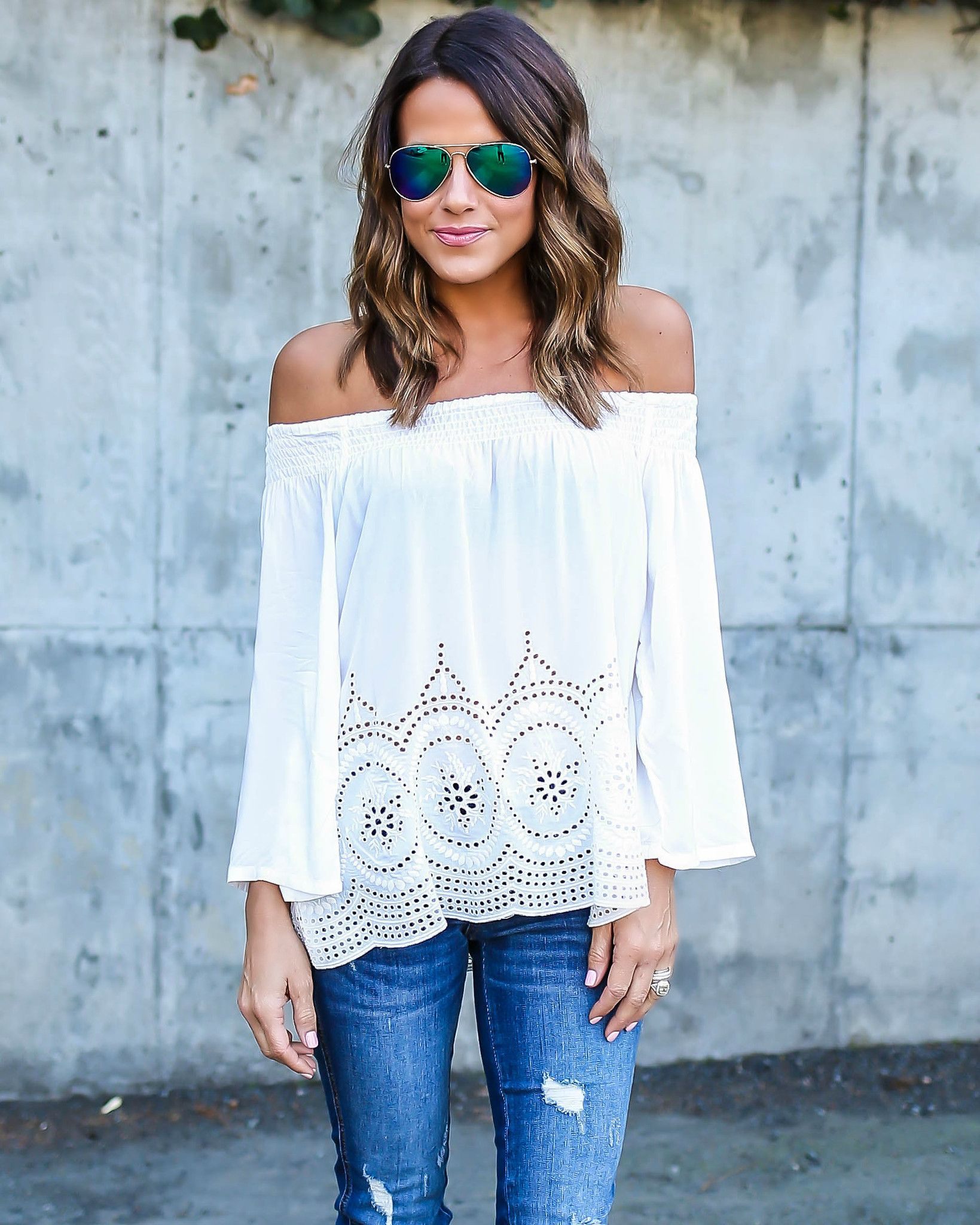 How to Pull Off Off The Shoulder Shirts