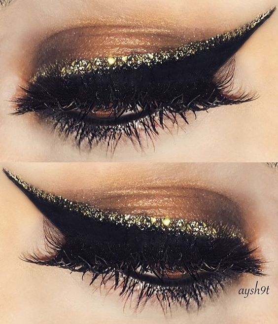 Sıvı Parıltılı Eyeliner Nasıl Giyilir