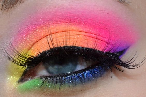 Tips On How To Wear Rainbow Makeup Rainbow Makeup Ideas