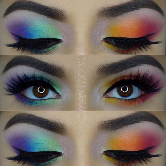 Tips on How to Wear Rainbow Makeup - Rainbow Makeup Ideas