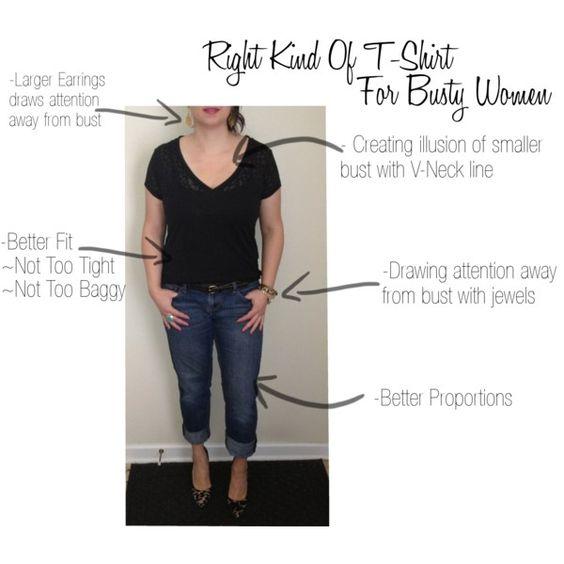7 Outfits, die gut zu Frauen mit großen Brüsten passen
