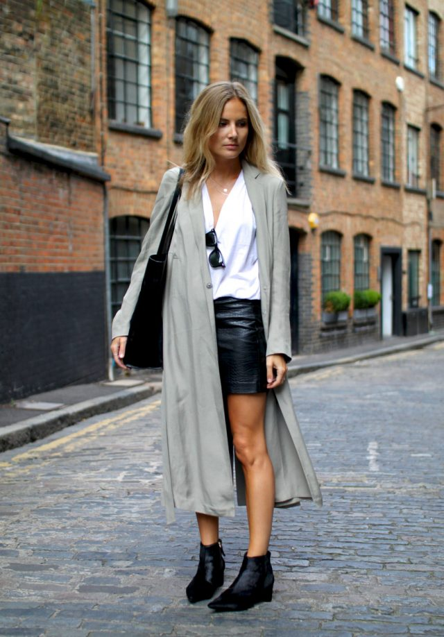 15 Pretty Ideas to Glam Your Leather Skirts - Pretty Designs