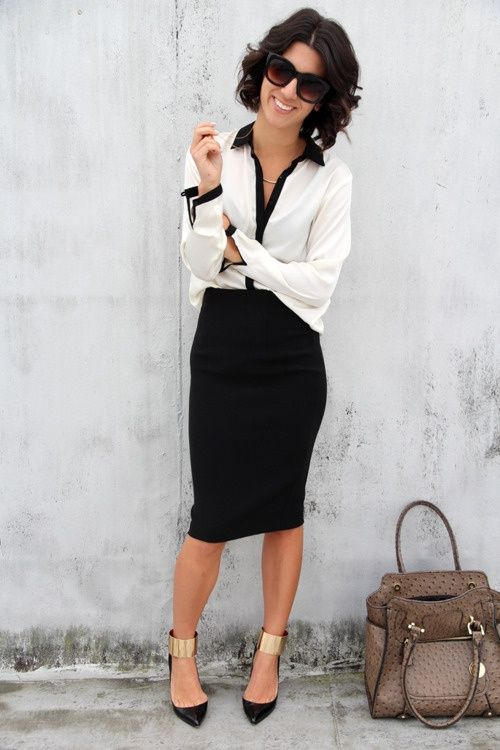 6b4f71917b 20 Pencil Skirt Styles You Want to Try for Weekdays - Pretty Designs