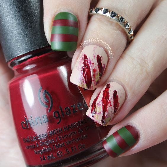 bloody-halloween-nails via