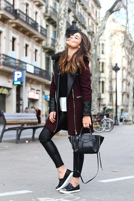 burgundy-coat via