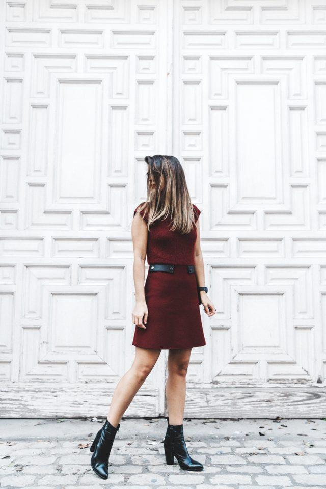 burgundy-dress-and-boots via