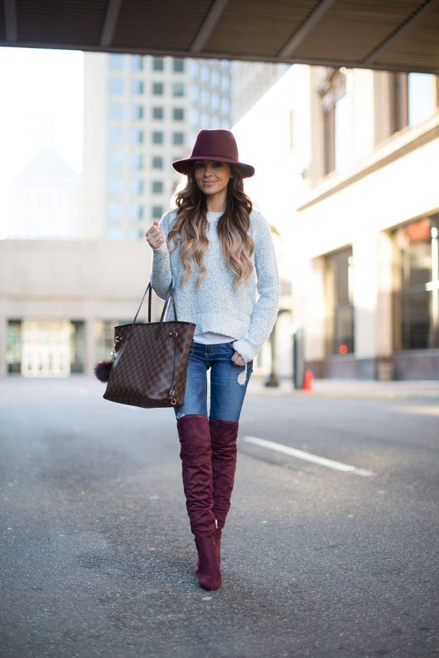 burgundy-knee-high-boots via