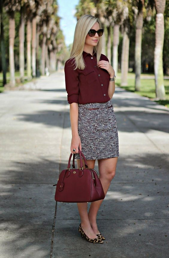 17 Ideas to Add Burgundy to Your Outfits - Pretty Designs