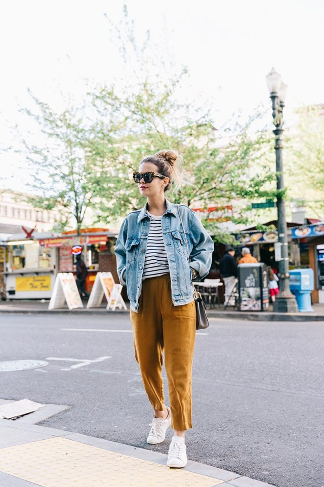 casual-look-with-mustard-pants via