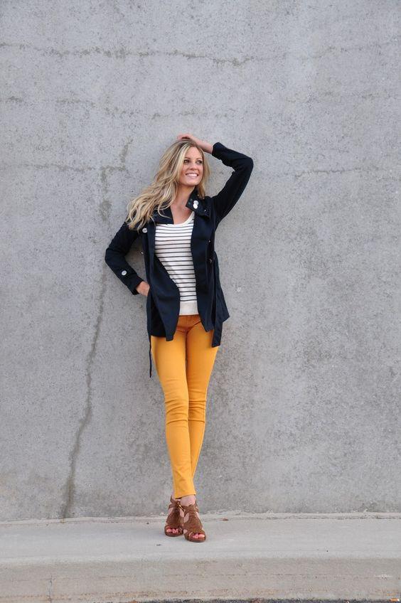 how to wear mustard pants