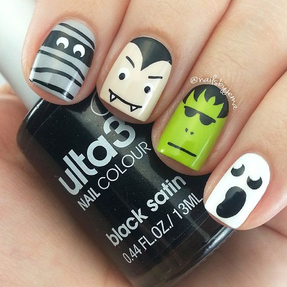 funny-halloween-nails via