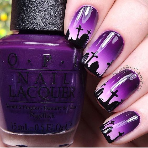 grave-halloween-nails via