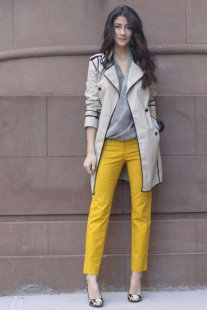 grey-blazer-and-mustard-pants via