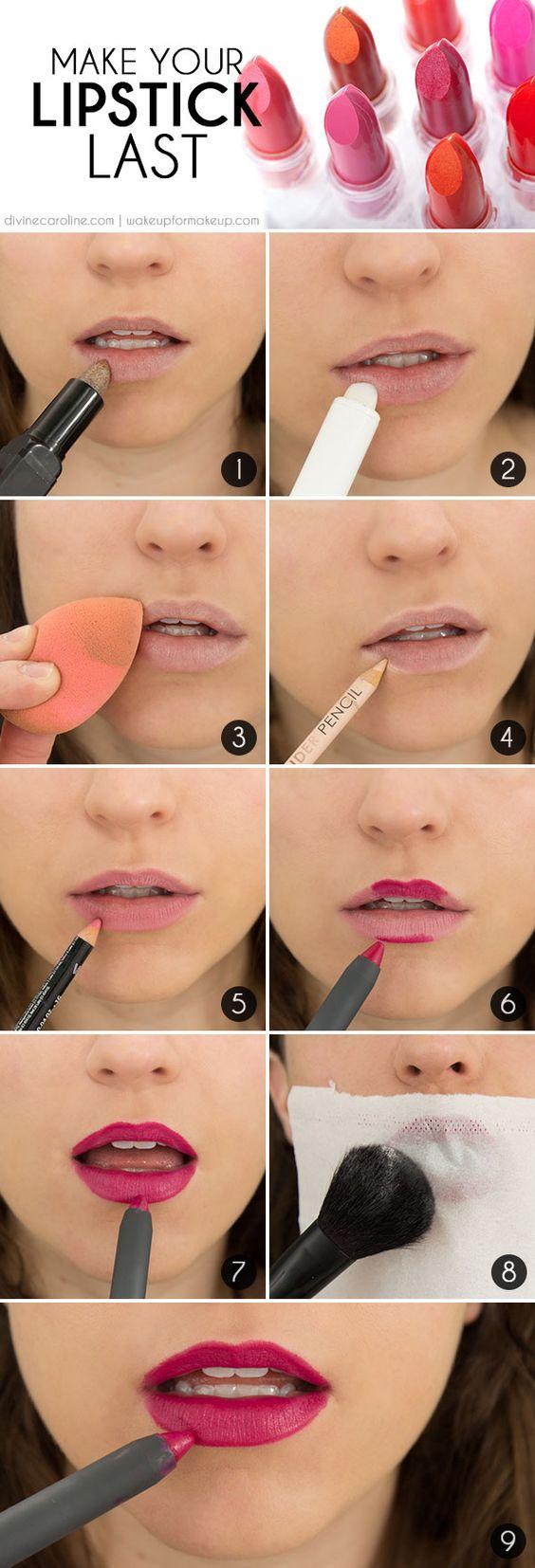 Last-long Lipsticks via