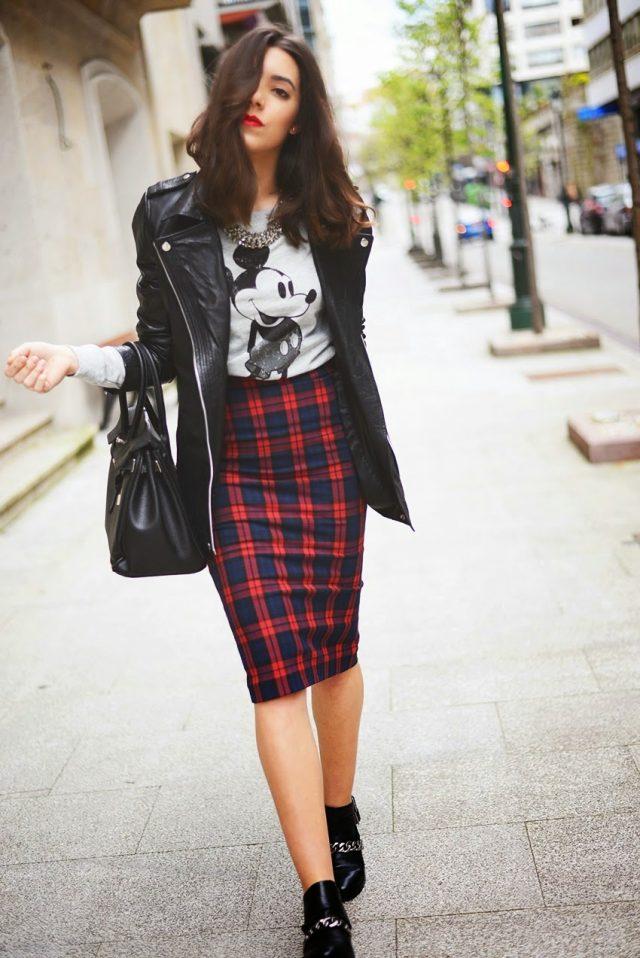 leather-jacket-and-plaid-skirt via