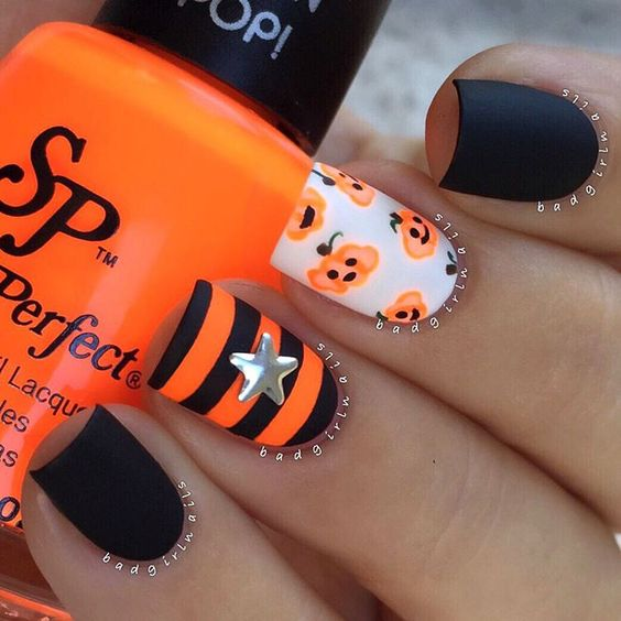 pumpkin-inspired-nails via