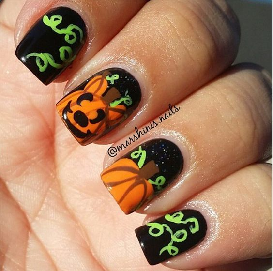 pumpkin-nails via