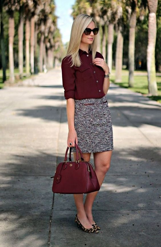 red-top-and-pencil-skirt via