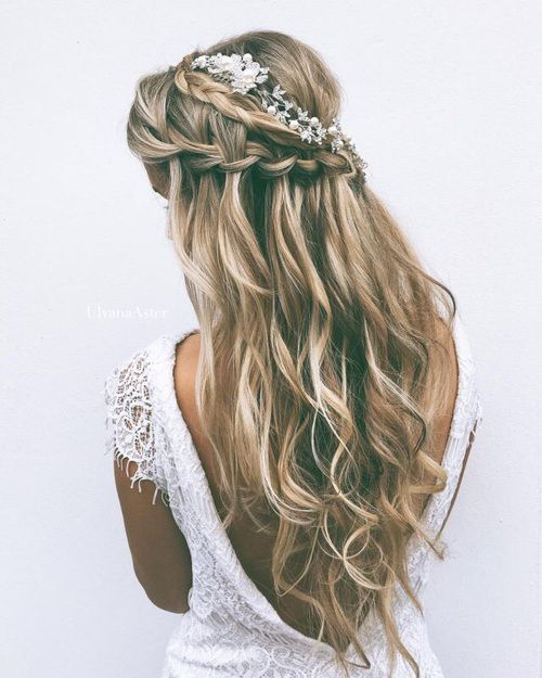 Wedding Hairstyles Down With Braids: 20 Ideas To Style Wedding Hairstyles For Fall