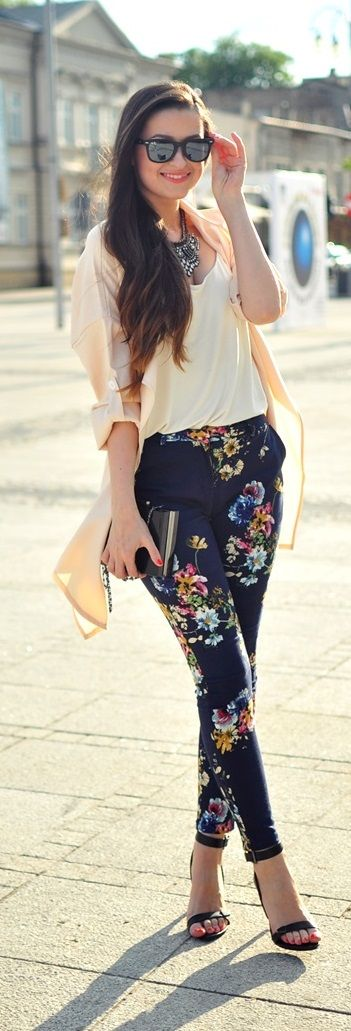 beige-top-and-floral-pants via
