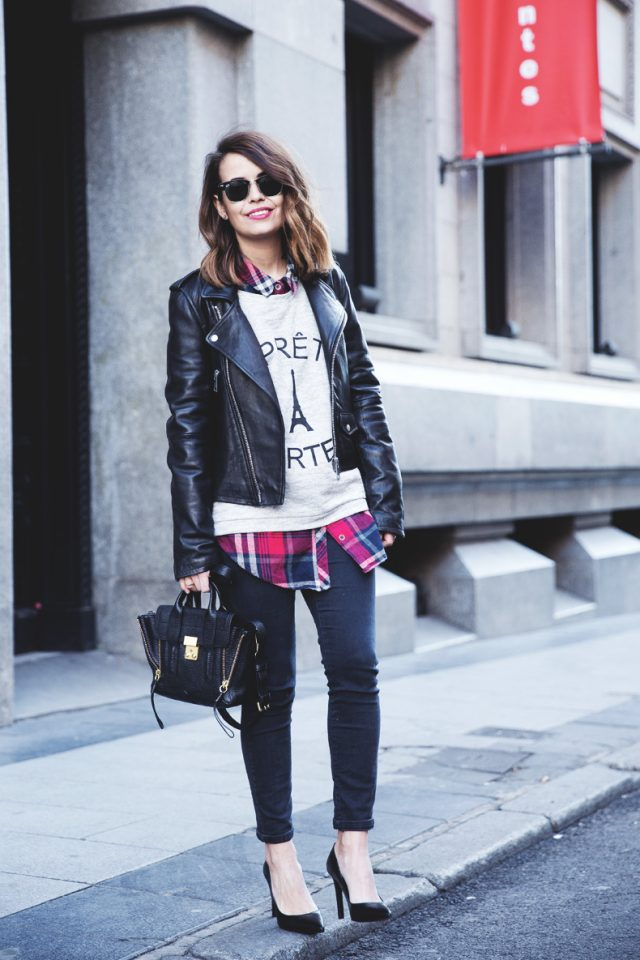 black-jacket-jumper-tartan-shirt-and-black-jeans via