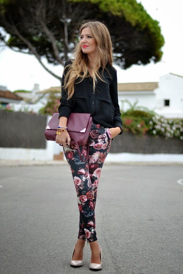 black-top-and-floral-pants via