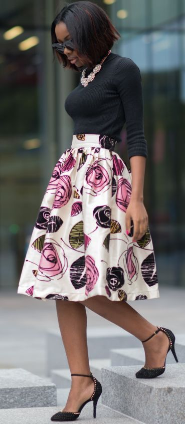 black-top-and-floral-skirt via