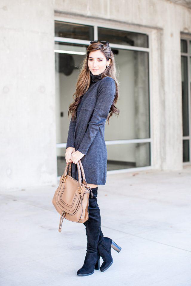 deep-grey-turtleneck-dress via