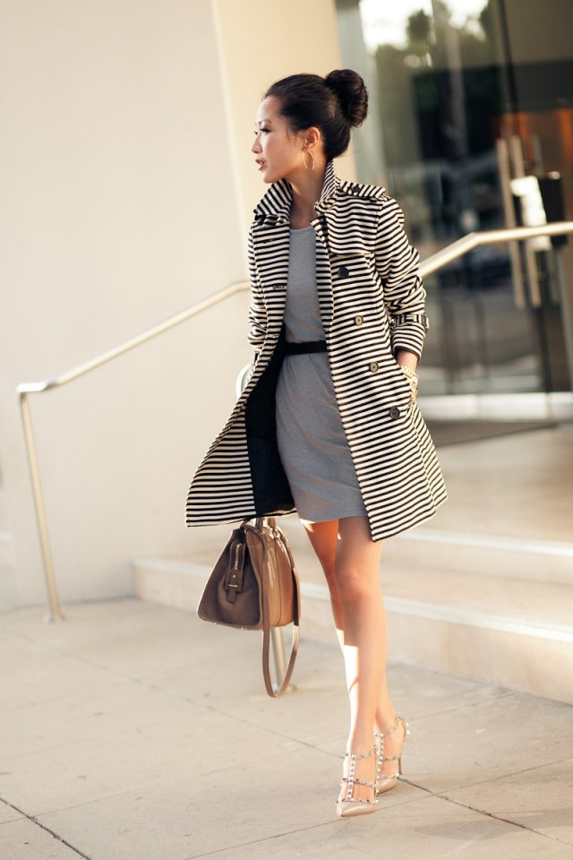 dress-and-striped-trench-coat via