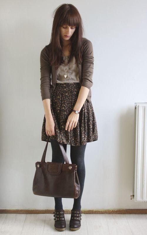 floral-skirt via