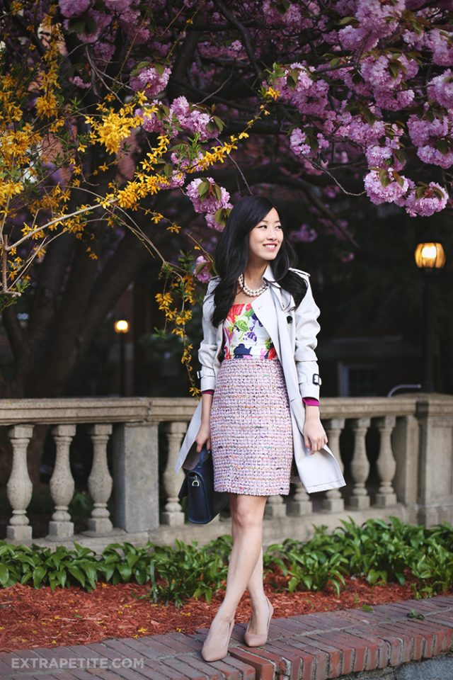 floral-top-and-white-trench via