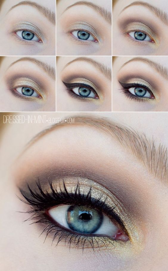 golden-eye-makeup via