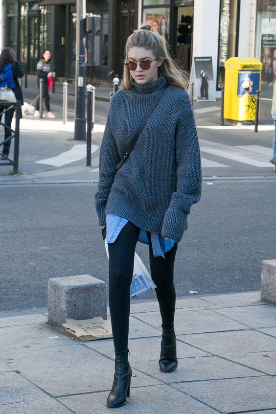 grey-turtleneck-denim-shirt-and-boots via