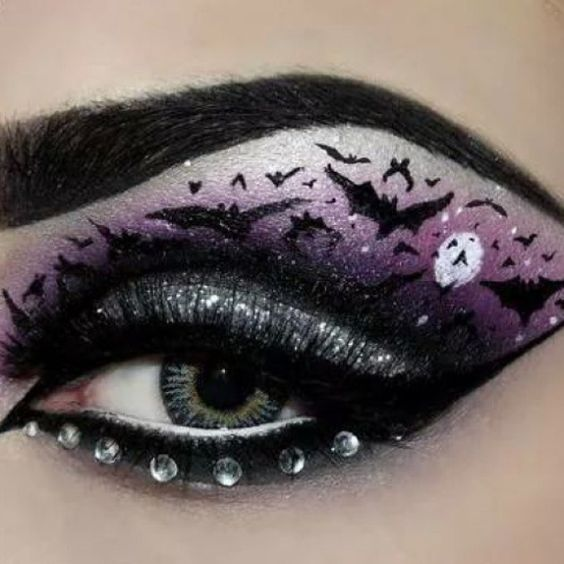 halloween-eye-makeup via