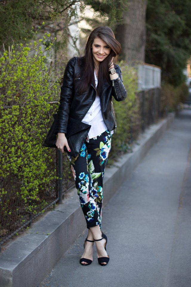 leather-jacket-and-floral-pants via
