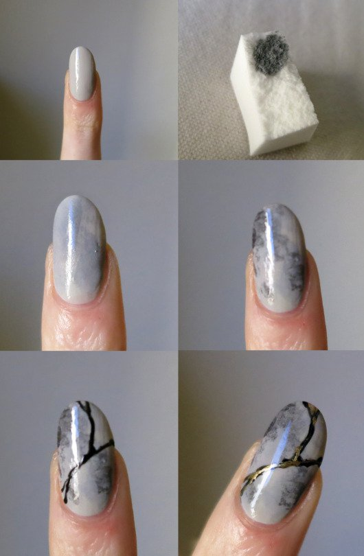 marble-nails-with-lines via