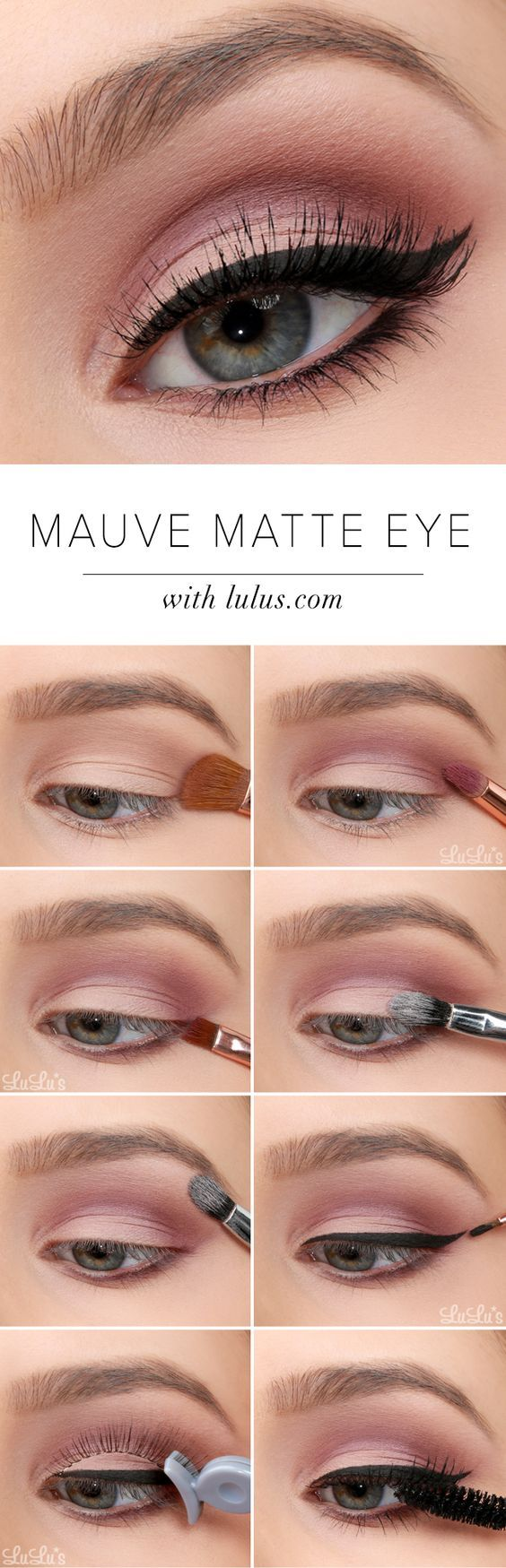 mauve-matte-eye-makeup via