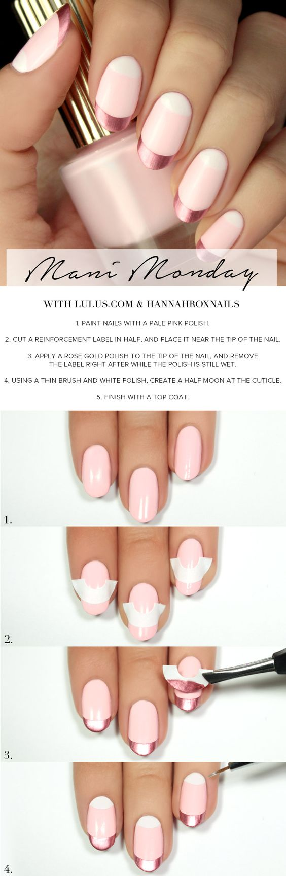 metallic-pink-nails via