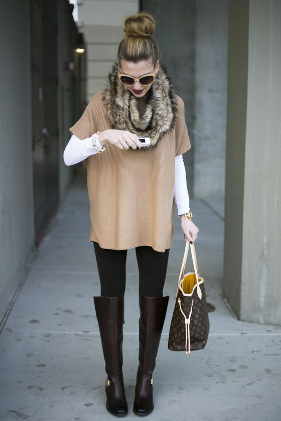 neutral-top-and-knee-high-boots via