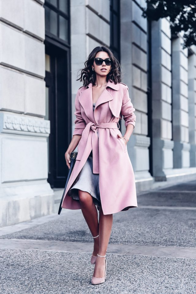 pink-trench-coat-and-dress via