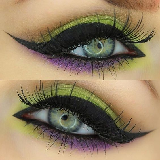 purple-and-green-eye-makeup via